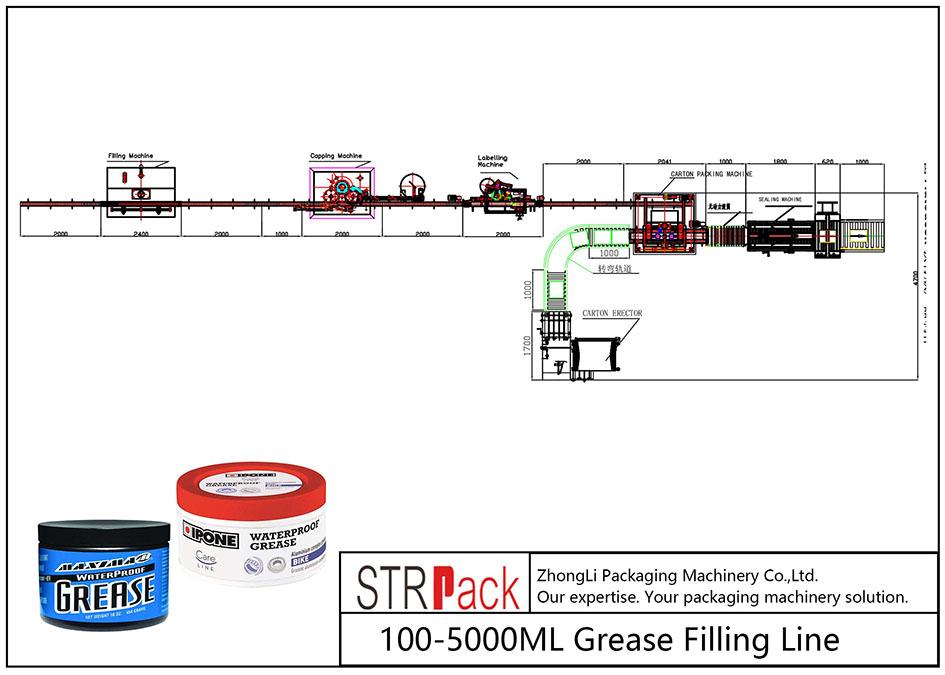 Automatische 100ML-5L Fettfülllinie