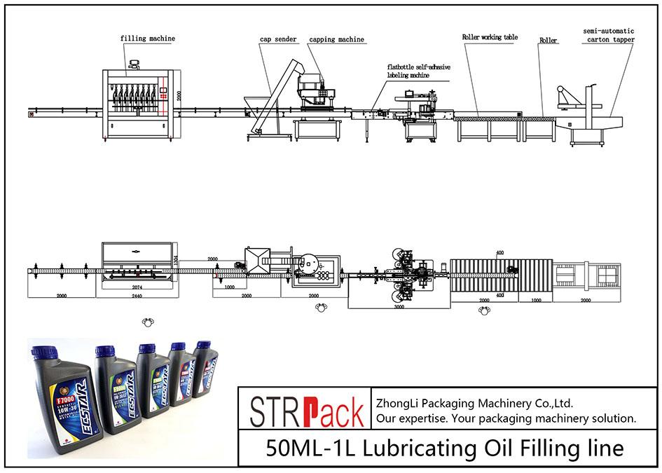 Automatische 50ML-1L Schmierölfüllleitung
