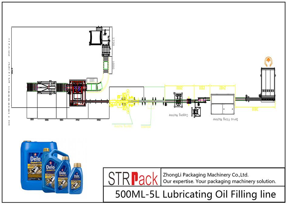 Automatische 500ML-5L Schmierölfüllleitung