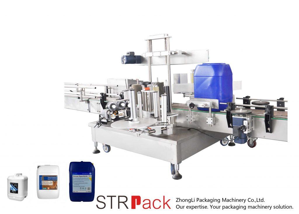 Automatische Doppelseiten-Etikettiermaschine für 5-25L Trommel