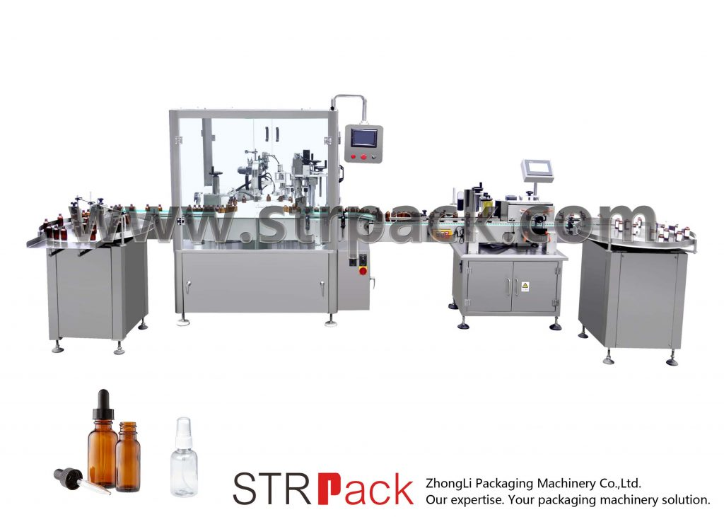 Automatische Füll- und Verschließmaschine für Tropfflaschen