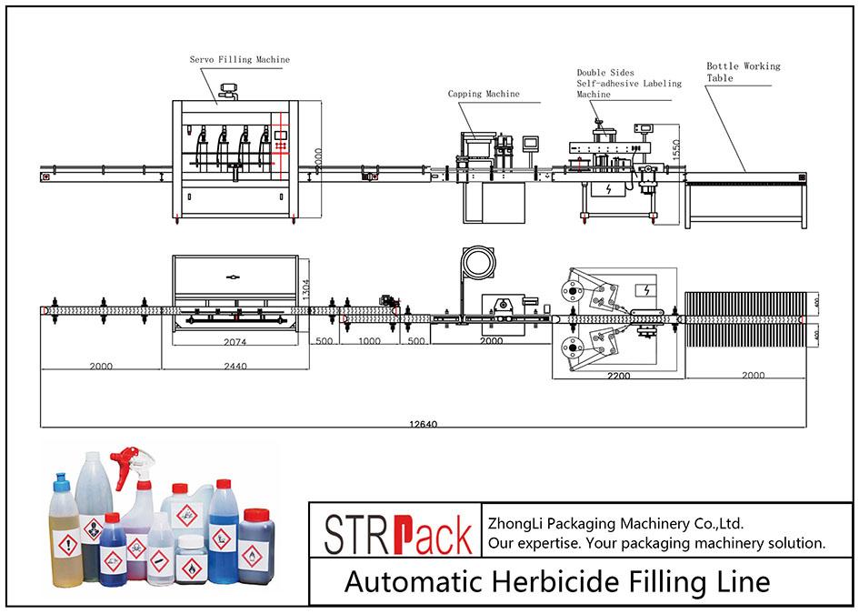 Automatische Herbizid-Fülllinie