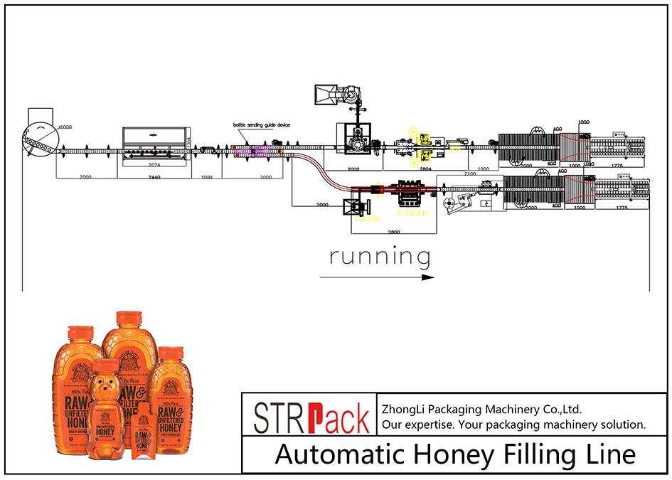 Automatische Honigfülllinie
