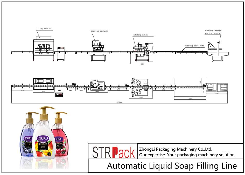 Automatische Flüssigseifenfüllleitung
