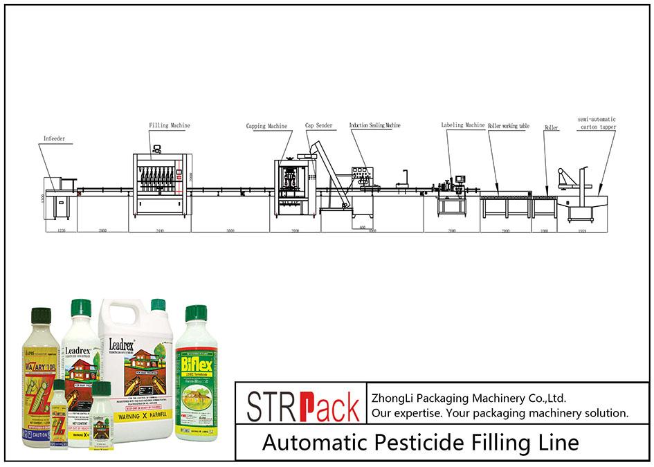 Automatische Pestizid-Abfülllinie