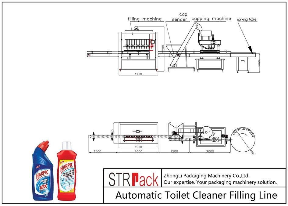 Automatische Fülllinie für Toilettenreiniger