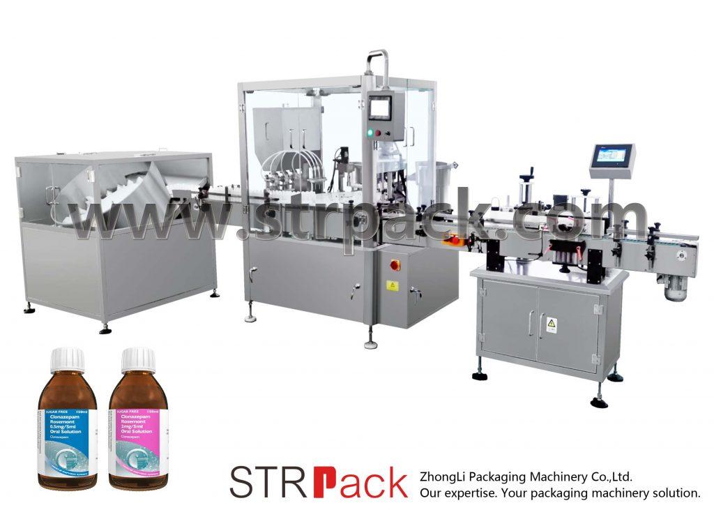 Füll- und Verschließmaschine für oralen Flüssigsirup