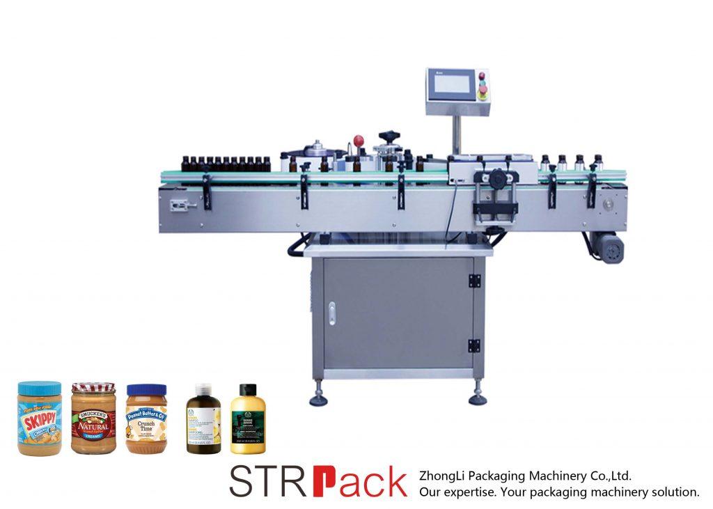 Vertikale selbstklebende Rundflaschen-Etikettiermaschine